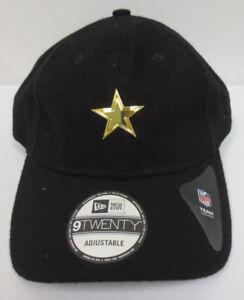 bef29aef Details about DALLAS COWBOYS STRAPBACK HAT CAP NEW ERA BLACK GOLD NFL  FOOTBALL 9TWENTY NEW
