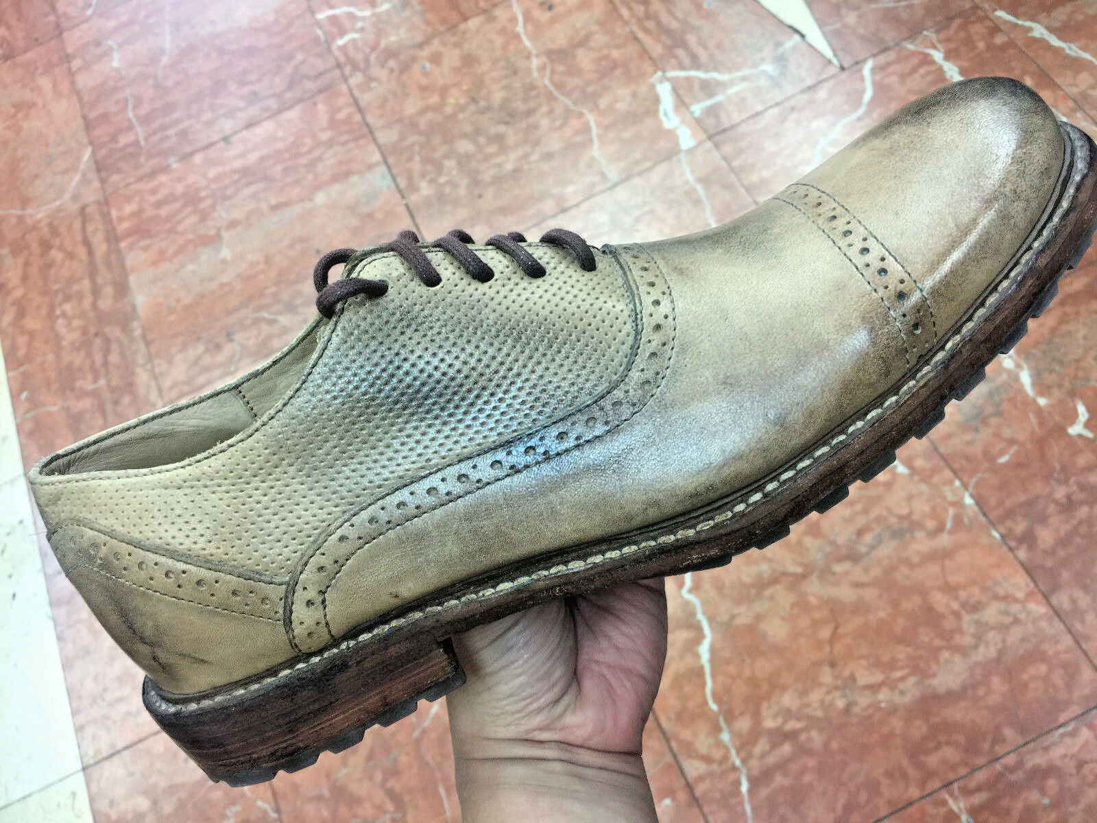 Men's Bed Stu Vintage Light Tan 100% Genuine Leather Fashion shoes