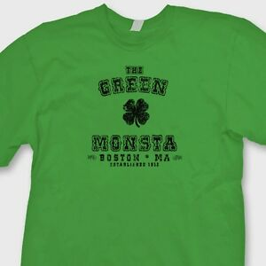 best service 65922 5d93c Details about The GREEN MONSTA Funny Irish T-shirt jersey Boston Red Sox  Tee Shirt