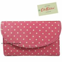 Cath Kidston Curve Wallet Mini Dot (washed Red)100% Authentic