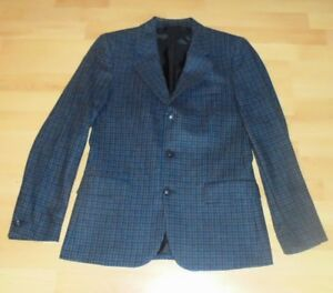 UMIT-BENAN-Mens-Blazer-Size-Large-50-Col-Blue-100-Wool-Made-in-Italy