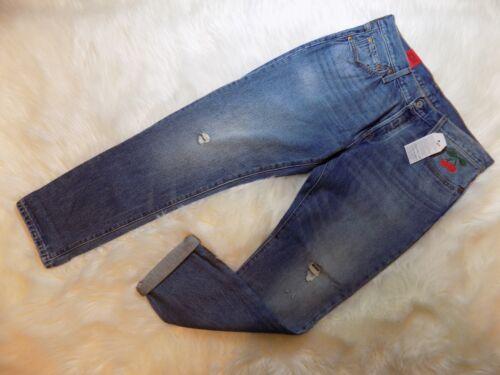 Jeans Taper Button 501 32 X Actual Kvinder Beskåret Kirsebær Fly Levis 28 5Zw6qFaa