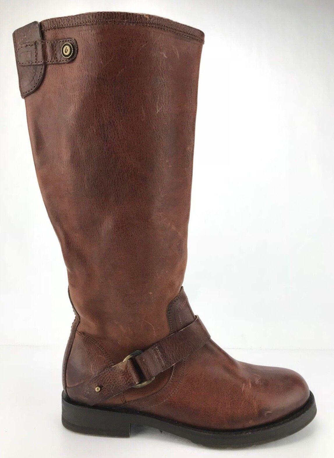 garantito Olukai Nahuku Nahuku Nahuku Equestrian avvio Marrone Leather Calf High Side Zipper donna Dimensione 7  vendita online sconto prezzo basso