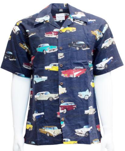 David Carey Chevy Chevrolet Bel Air Tri-5 Camp Hawaiian Button Down Shirt 48714
