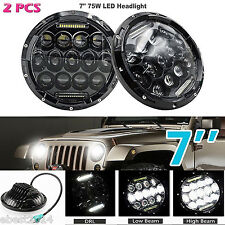 2PCS 7inch LED Headlights Hi/Lo Beam DRL Headlamps Fit For Suzuki Samurai SJ410