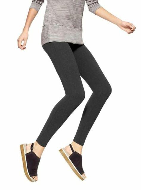 Hue U2243 Graphite Heather Gray Temp Control Cotton Leggings For Sale Online