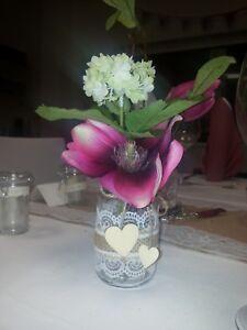 Deko Tischdeko Hochzeit Kommunion Konfirmation Taufe 2 Glaser