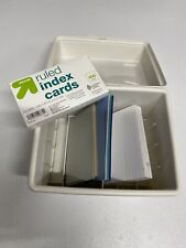 Index Card Box 6x7 White Box Holder With Free Index Cards Included Recipe Card