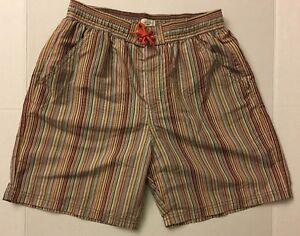 266011da18 PAUL SMITH JUNIOR Boys Striped Short Swim Trunk Bathing Suit 14A NWT ...