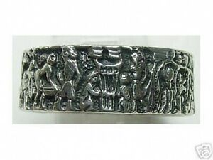 Mural-Life-of-Egyptian-Ring-Real-Sterling-Silver-925-egypt-Pharaoh-King-Jewelry