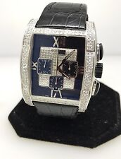 EBEL TARAWA WHITE GOLD & DIAMOND AUTOMATIC CHRONOGRAPH WATCH NEW $54,600 RETAIL!