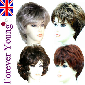 Ladies-Short-Wig-Blonde-Black-Brown-Fashion-Wigs-Forever-Young-Wigs-UK
