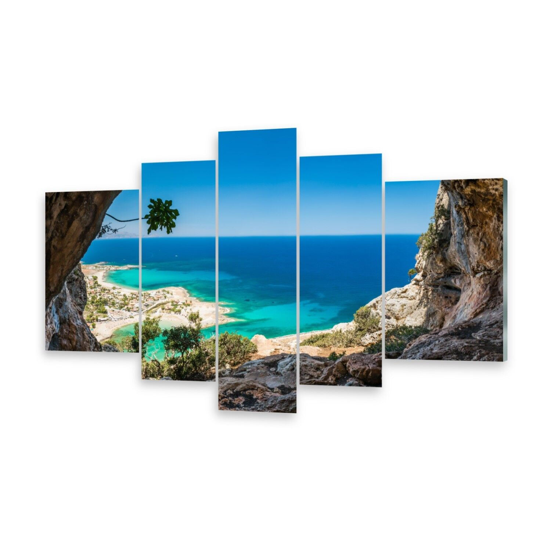 Mehrteilige Bilder Glasbilder Wandbild Höhle Griechenland