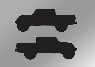 Jt 2 Quot X 75 Quot Silhouettes Premium Quality Decals For Jeep