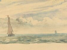 JOHN CONSTABLE BRITISH SEASCAPE TWO SAIL BOATS OLD ART PAINTING POSTER BB5873A