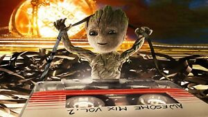 Guardians of the Galaxy 2 Baby Groot Marvel Poster Print T494 A4 A3 A2 A1 A0|