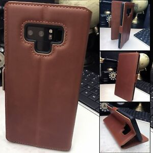 GALAXY-NOTE-9-Low-Profile-Real-Leather-Tan-Folio-Book-Case-Profile21-Wallet