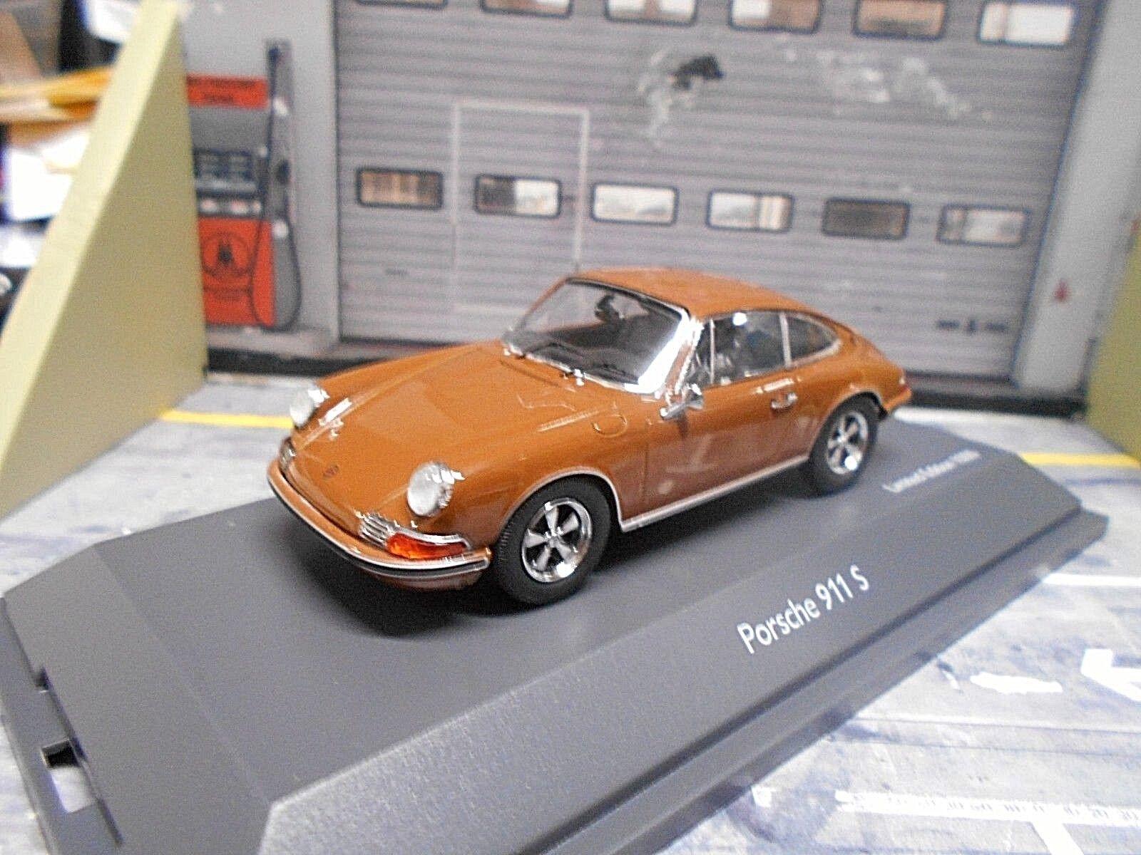 Porsche 911 S F modèle coupé Marron marron SCHUCO 1 43
