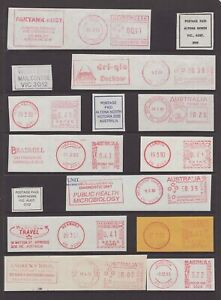 Victoria-postal-items-on-piece-selection-including-slogan-postage-paid-cancels