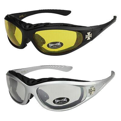 2er Pack Choppers 6608 Locs Sonnenbrille Brille gelb getönt Gläser Herren Damen