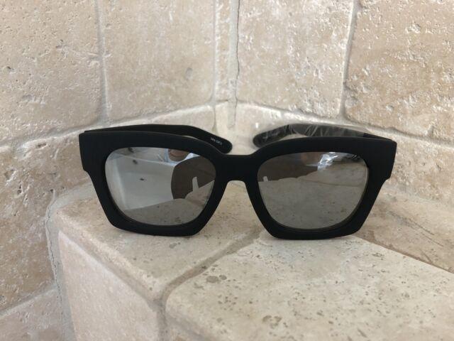 62b7fe14bb Quay Midnight Runner Matte Black silver Mirror Lens Sunglasses