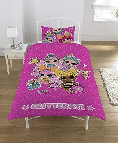 L.O.L. Surprise  Bettbezug Glitterati LOL Baby Bed Sheet mit Kissenbezug