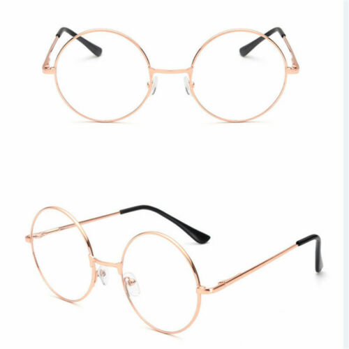 Large Oversized Big Round Metal Frame Clear Lens Round Circle Eye Glasses Gifts