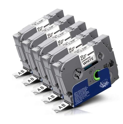 5x Schriftband für Brother P-Touch TZ 231 PT H105WB 1090BK D600VP E550WVP D200MA