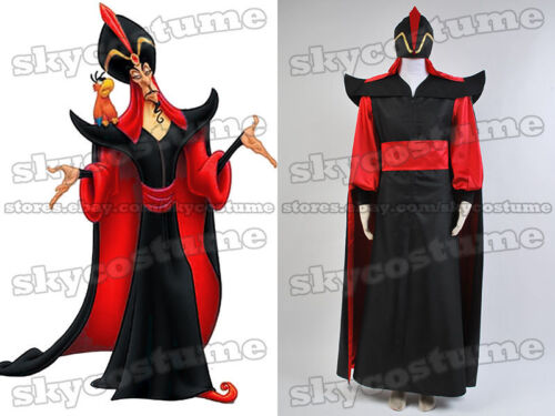 Aladdin The Return of Jafar Hat Wizard Outfit Cosplay Costume Robe Cloak Cape