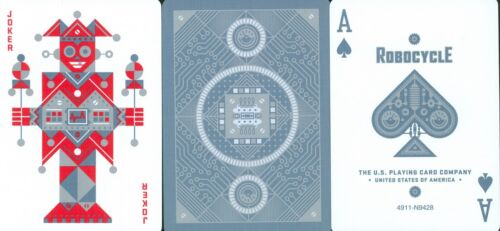 Playing Cards Deck black or blue POKER size USPCC BICYCLE ROBOCYCLE DECK