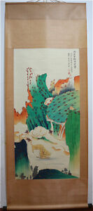 Excellent-Chinese-100-Hand-Painting-amp-Scroll-Landscape-By-Zhang-Daqian-HN68