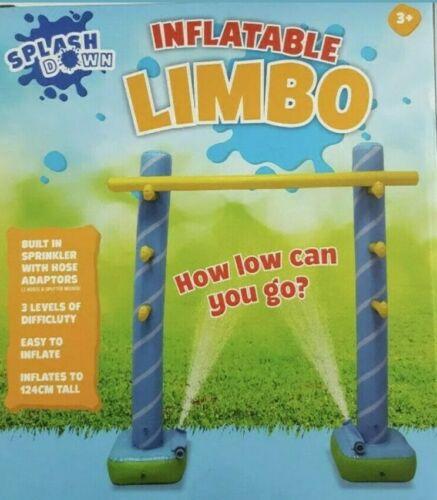 Splash Down Inflatable Limbo With Sprinkler Kids Outdoor Water Games