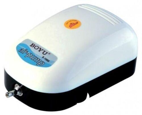 Aquarium Hydroponics Pump S1000 252L//hr BOYU S-1000 1 Way Adjustable Air Pump