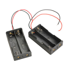NEW-2pcs-Two-Slots18650-Battery-Case-Holder-Mobile-Battery-Box-with-Wire-Leads