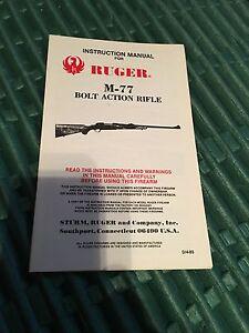 Manuel D'instruction Pour Ruger M-77 Boulon Action Fusil-afficher Le Titre D'origine