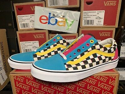vans blue and pink