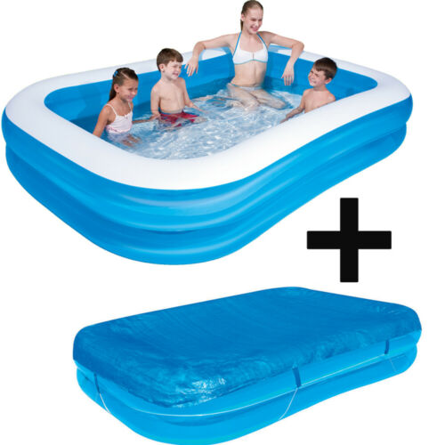 BESTWAY 54006 58319 Planschbecken 262x175x51cm Familien-Pool Family Spa Abdeckpl