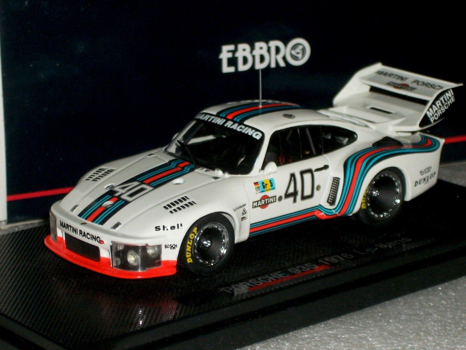 suministramos lo mejor Porsche 935 Martini  40 Le Mans 1976 1976 1976 Ebbro 43768 1 43  Tu satisfacción es nuestro objetivo