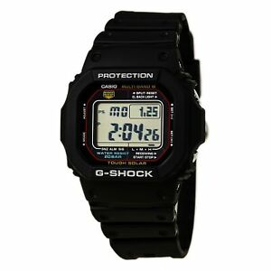 Casio-Men-039-s-Watch-G-Shock-Multi-Band-6-Tough-Solar-Black-Strap-GWM5610-1