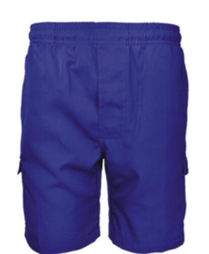 Boys School Cargo Shorts with Two Side Leg Pockets and Name tag Label