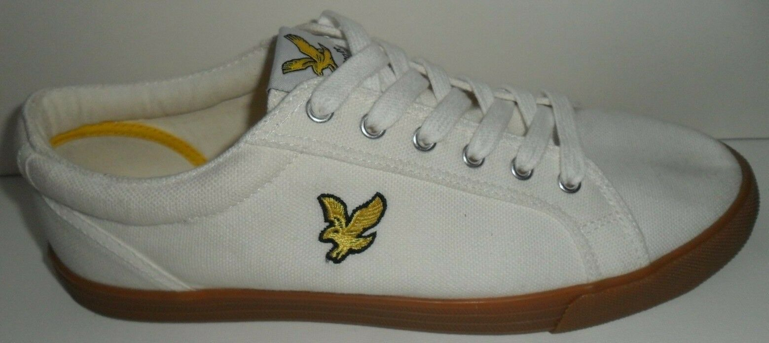 Men's Lyle & Scott New Off White Lace Up  Plimsolls - Size -