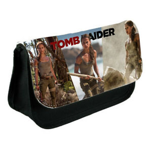 Lara Croft Tomb Raider,, Black Pencil Case Or Make-Up Bag Gift | eBay