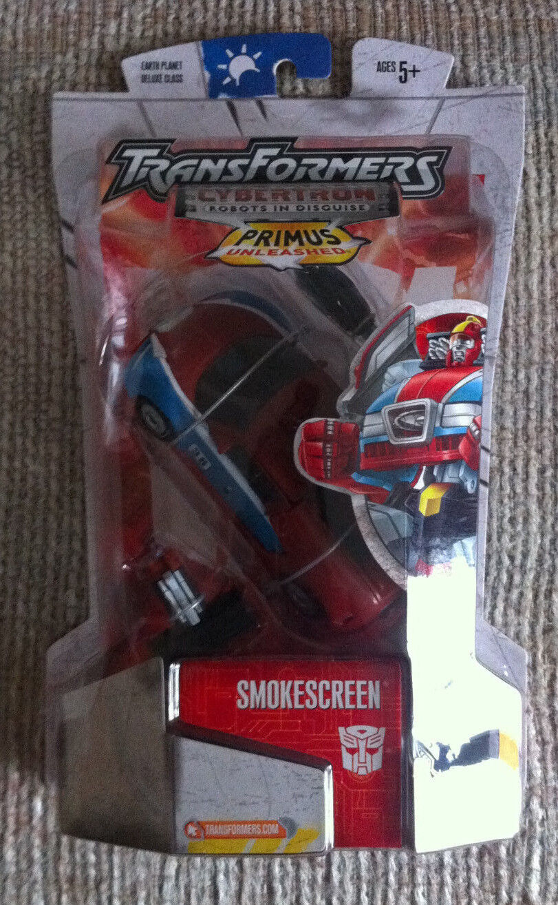 VINTAGE TRANSFORMERS CYBERTRON SMOKESCREEN DELUXE CLASS MOC EARTH PLANET