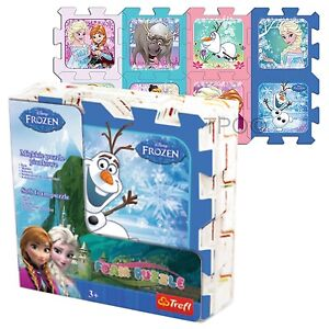 032a51c3362 Details about Trefl 8 Piece Baby Kids Infant Girls Soft Foam Mat Disney  Frozen Jigsaw Puzzle