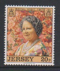 Jersey-1975-Royal-Visite-Reine-Mere-Tampon-MNH-Sg-123