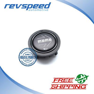 MOMO Steering Wheel Horn Button Black NEW Type 52mm Flat Genuine #SPHOARWBLKCHF