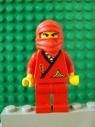 Lego Minifig ~ RARE Vintage Classic RED Samurai Ninja w//Hood #tyasdf