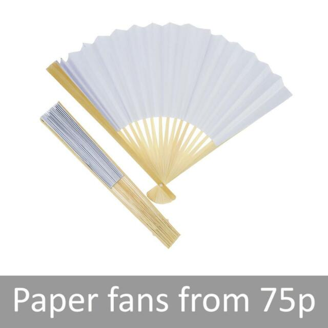 White Paper Fans Wedding Favours Party Gifts