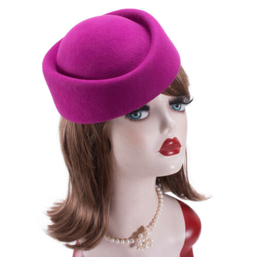 Cocktail Fascinator Base Wool Air Hostesses Pillbox Hat Millinery Making A139