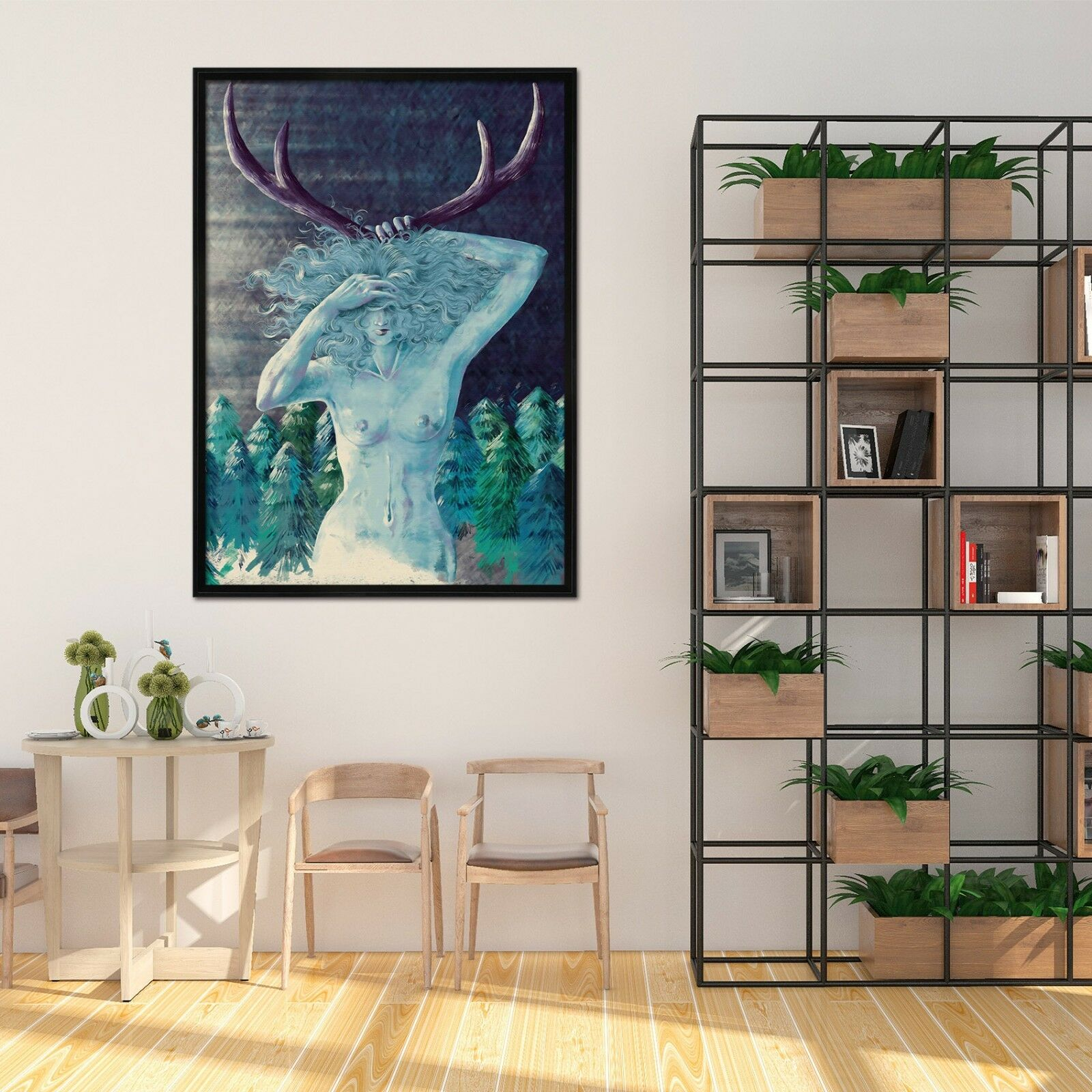 3D Forest Bruja película 2 Póster Enmarcado Decoración del Hogar Pintura de Impresión Arte AJ Wallpaper